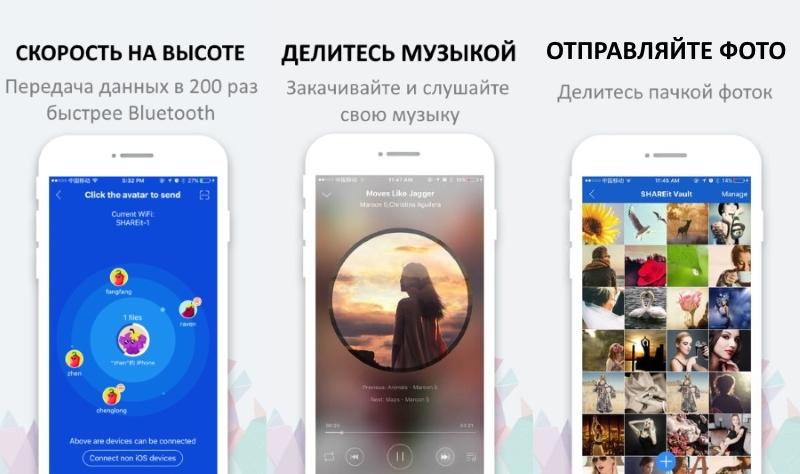 приложение shareit на iphone